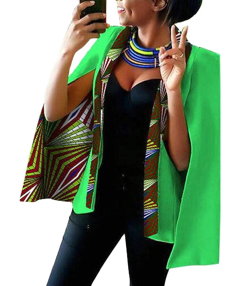 21 GenericWomen Long Sleeve African Floral Dashiki Split Sleeve Jacket Blazer Suits