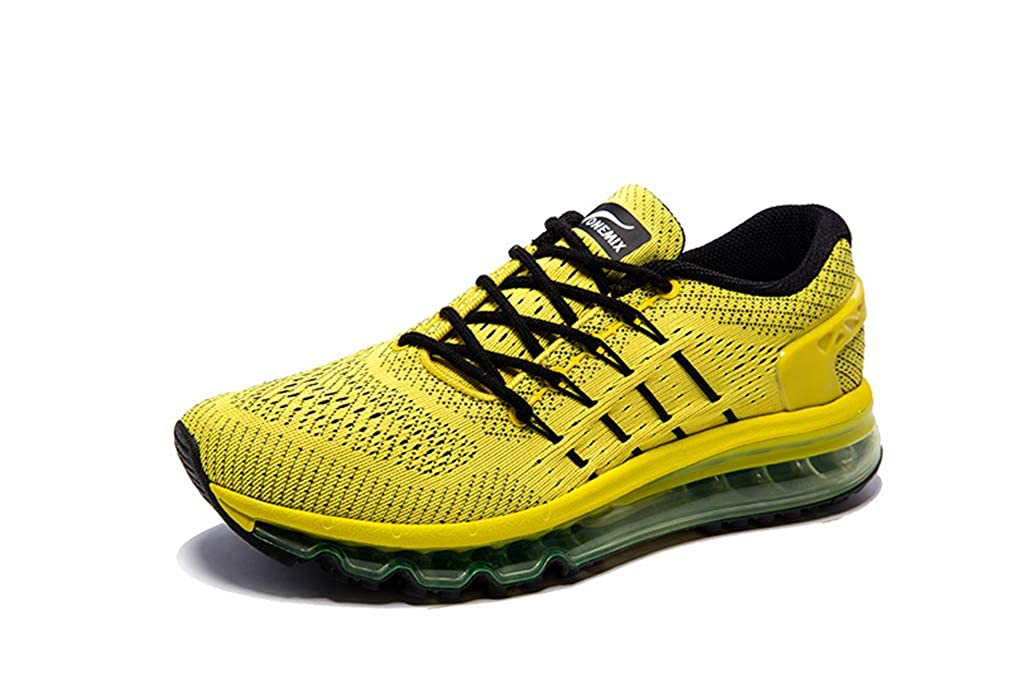 Black Yellow UB-ONEMIX Mens Lightweight Air Running shoes Breathable Gym Outdoor Unique Walking Sneakers
