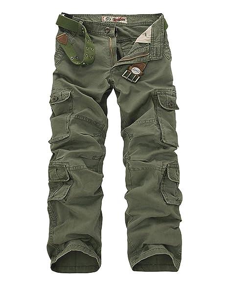 LaoZanA Pantalones Cargo para Hombre - Pantalon De Chandal ...