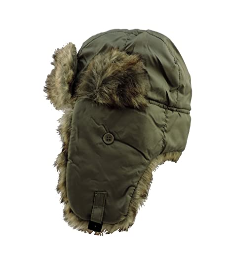 Amazon.com   Rothco Men s Winter Olive Drab Faux Fur Trapper Aviator Hat 7  3 4   Everything Else 99414b8ba63