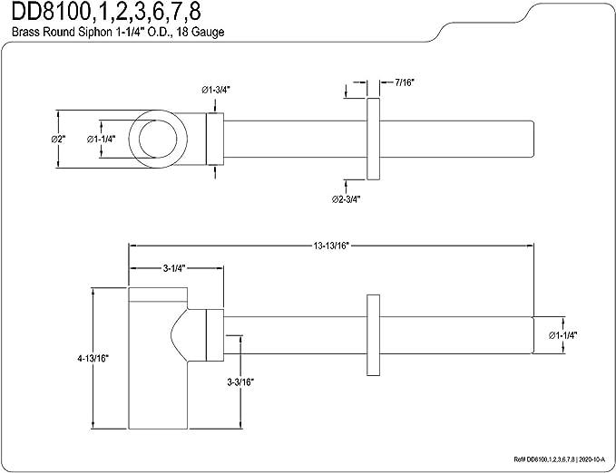Kingston Brass DD8108 Fauceture Modern Bottle-Trap 12-Inch Vessel Sink Drain Brushed Nickel