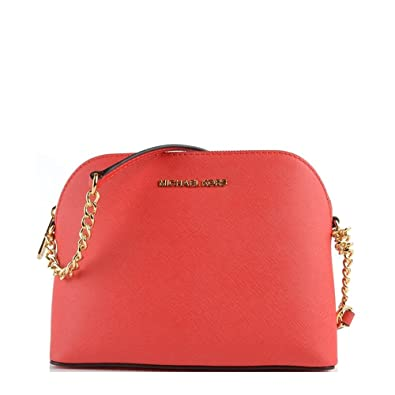 74a6a8501e37 MICHAEL by Michael Kors Cindy Coral Large Dome Crossbody Bag one size Coral
