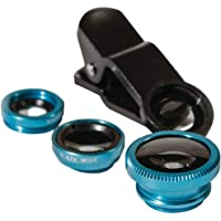 Techford Universal Clip on 3 in 1 Professional Photography HD Mobile Photo Camera Lens Kit, 0.4X Super Wide Angle, 180° Fisheye, 10X Macro for for Apple iPhone and Android Smartphones