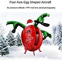 Leewa 2.4G 4H 6 Axis Gyro Foldable Transformable Egg Pocket Drone RC Quadcopter UAV Christmas Gift (Without Camera)