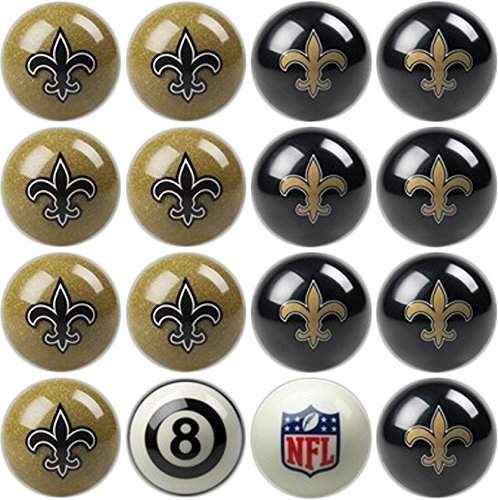 - Imperial Officially Licensed NFL Merchandise: Home vs. Away Billiard/Pool Balls, Complete 16 Ball Set, New Orleans Saints