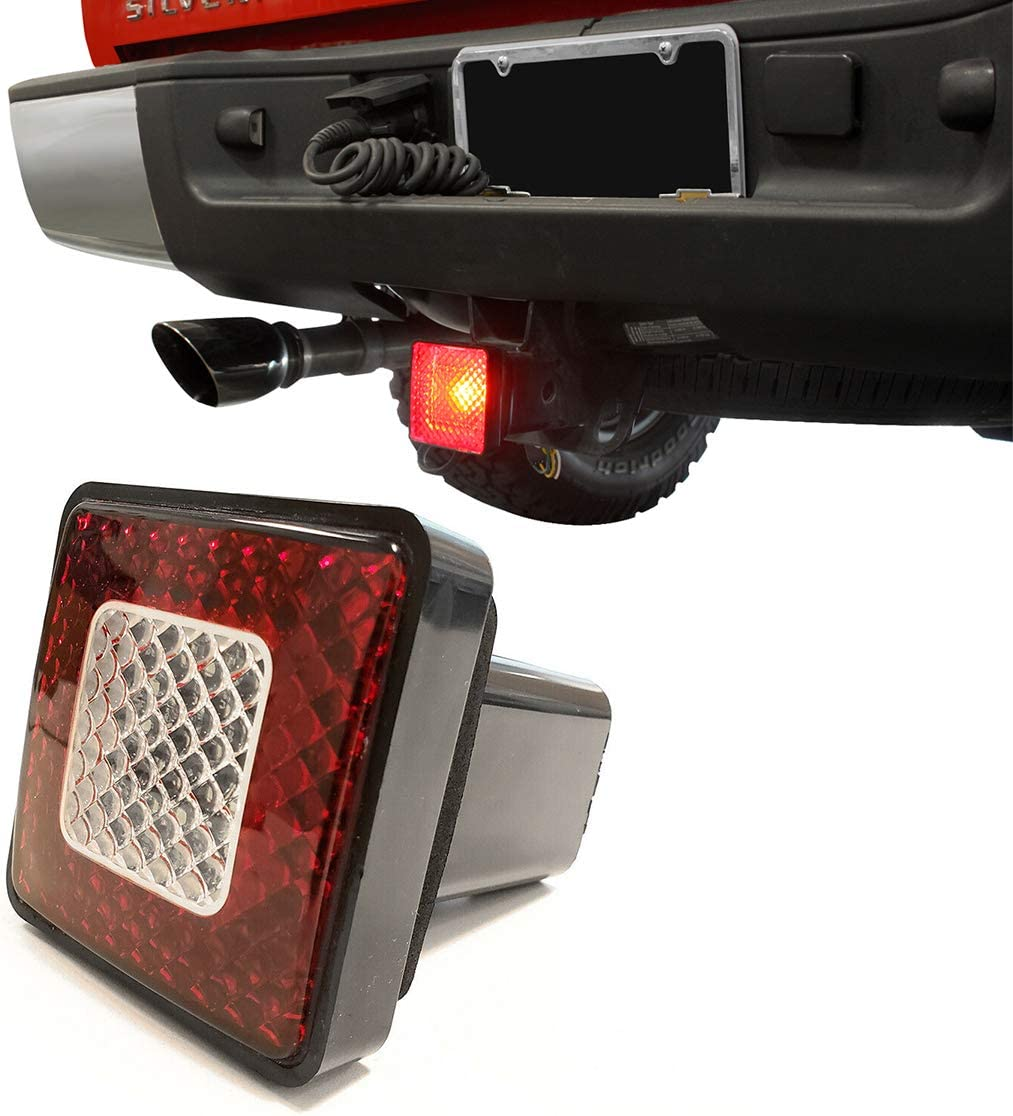 TC Sportline 3 80 LED Brake Driving Lamp with Reverse Light Truck SUV Trailer Towing Hitch Receiver Cover for 2 Class III Hitch