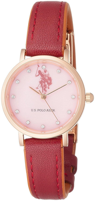 U.S.Polo ASSN Reloj de Cuarzo para Mujer, Esfera de Color Rosa ...