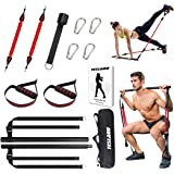 Upgraded 60-180LBS Adjustable Pilates Bar Kit with Resistance Band, Anti-Break, Portable Fitness Exercise Workout Toning…