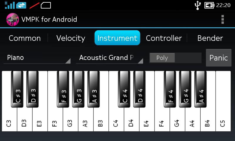 Teclado de piano MIDI virtual (VMPK) gratis