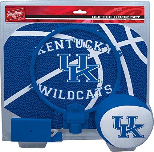 NCAA Kentucky Wildcats Kids Slam Dunk Hoop Set, Blue, (Kentucky Wildcats Ncaa Basketball)