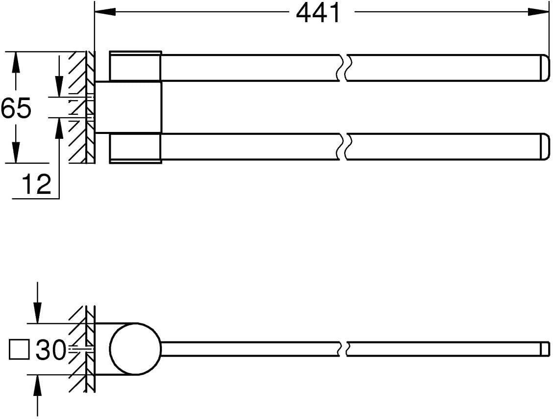 Import Allemagne GROHE Selection Barre Porte-serviette 41063000