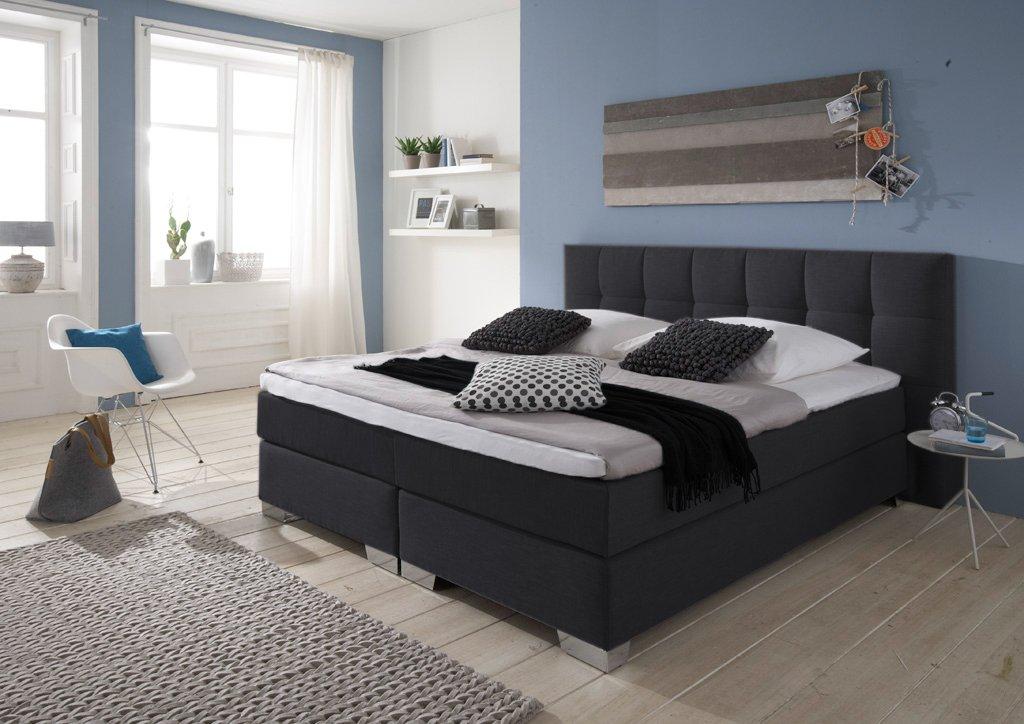 designer boxspringbett home made in germany tonnentaschenfederkern in der box und in der 7. Black Bedroom Furniture Sets. Home Design Ideas