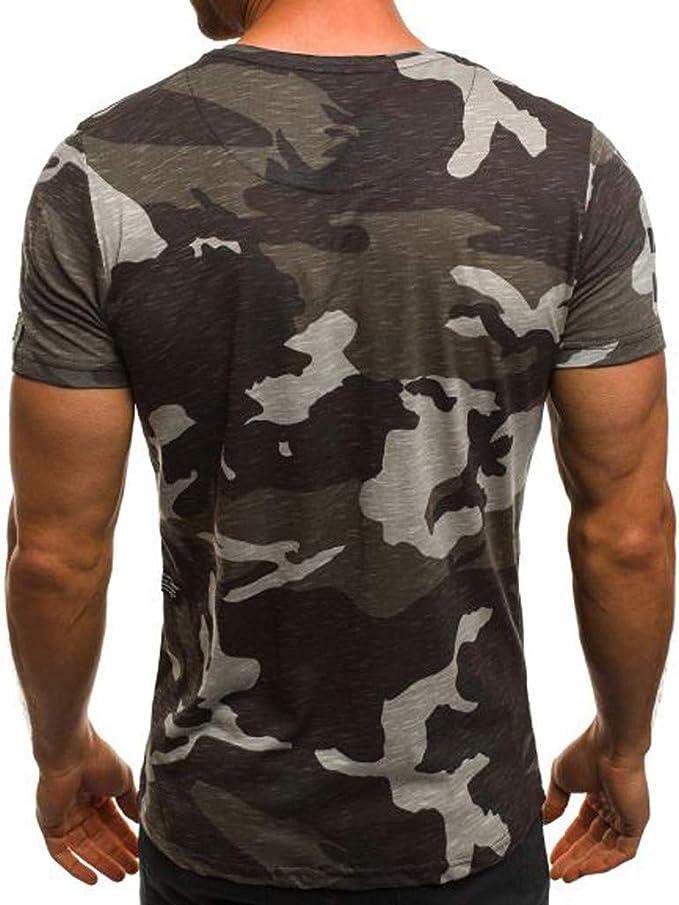 Camuflaje Mens Camiseta Camisa Culturismo Fitness Hombres algodón ...