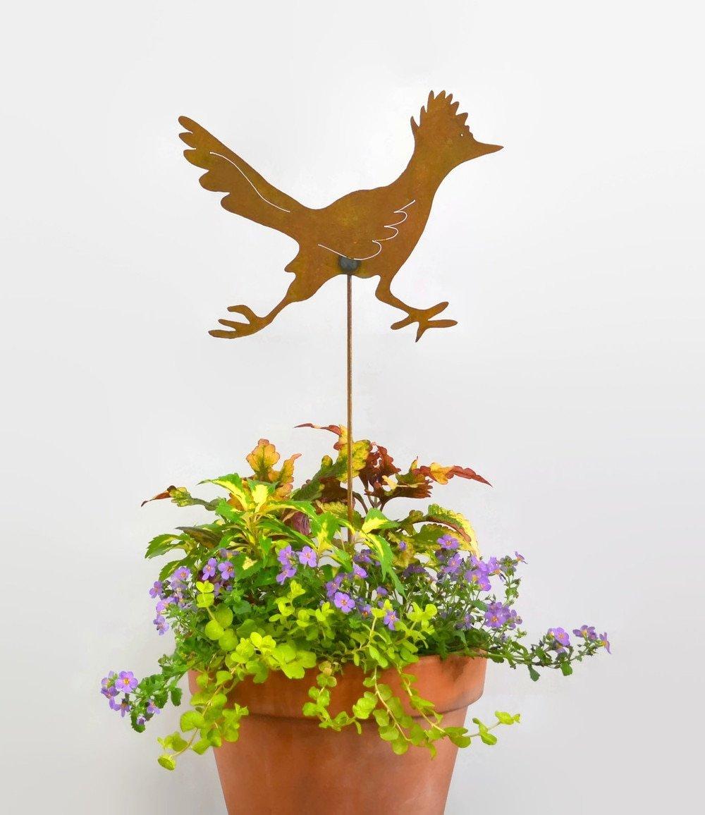 Roadrunner Decorative Metal Garden Stake, Whimsical Yard Art!