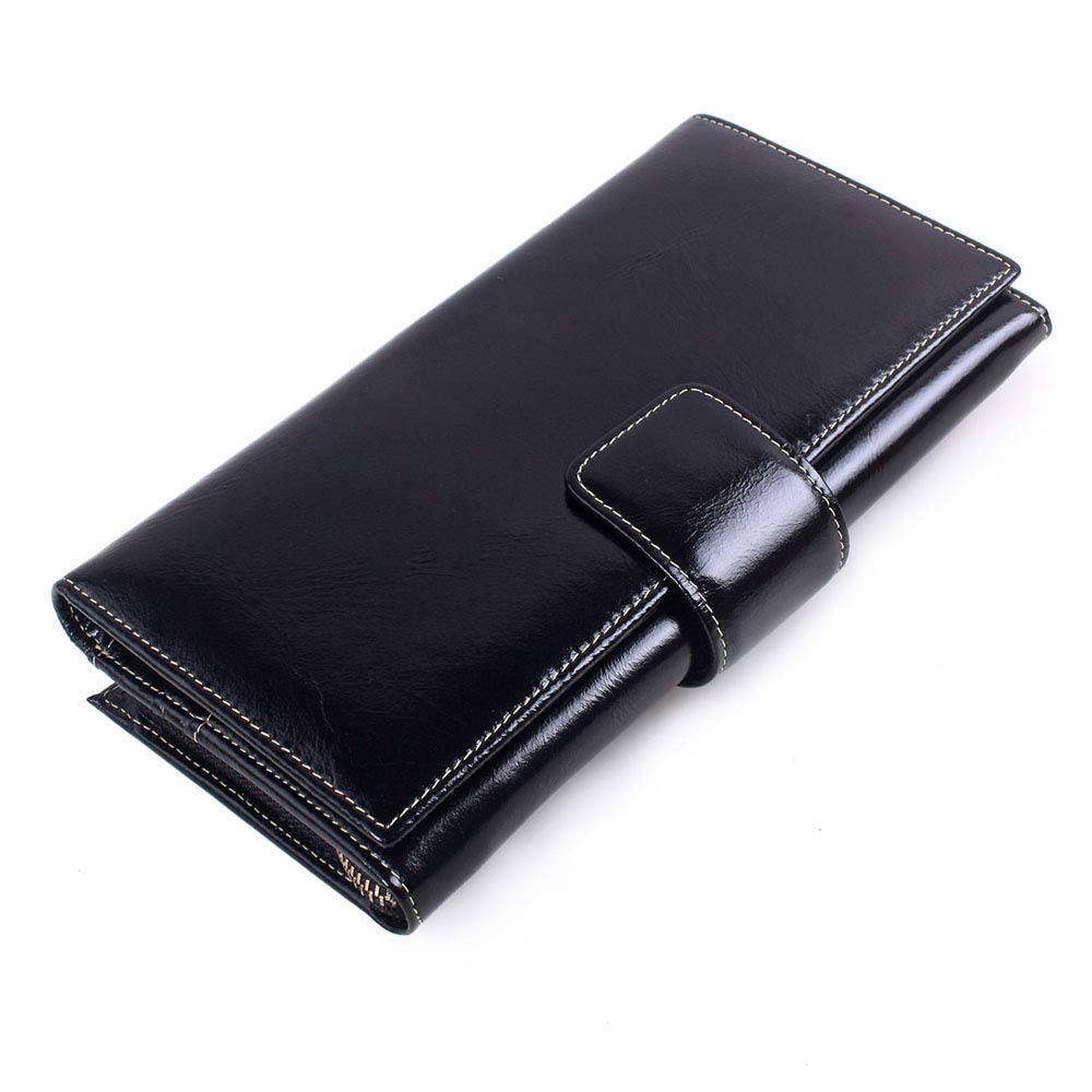 Black Women's Leather Wallet Long Women's Clutch MultiCard Business Wallet for All Occasions (color   Pink)