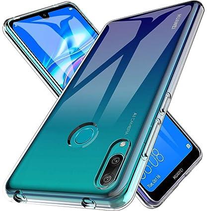LK Funda para Huawei Y7 2019, Carcasa Cubierta TPU Silicona Goma Suave Case Cover Play Fino Anti-Arañazos - Clara