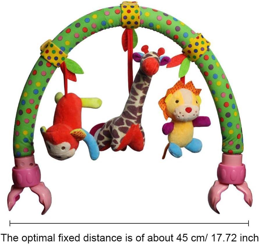 Formation de capacit/é b/éb/é Musical Poussette Jouet pour Forme Animale poup/ée en Peluche Infantile Forme Autour de lit Berceau Berceau Cadeau pour b/éb/é et m/ère
