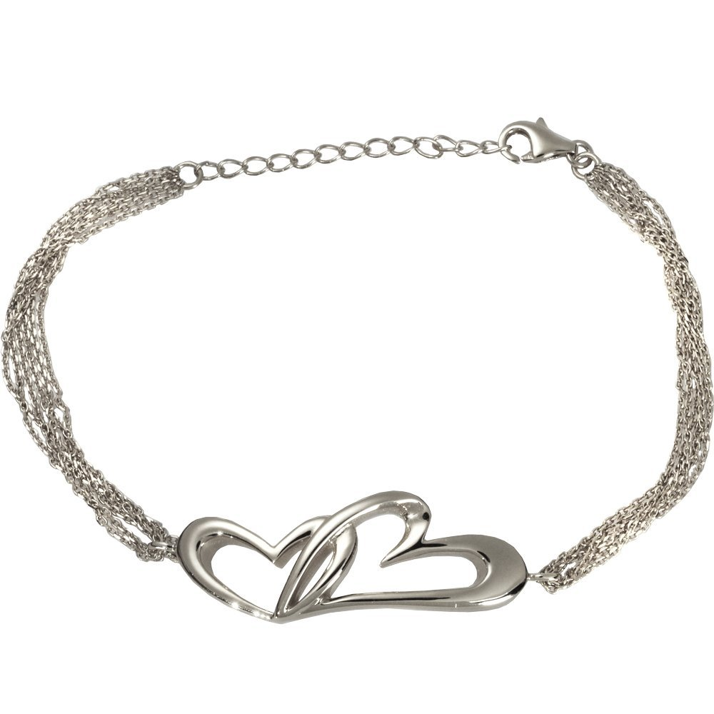 Memorial Gallery 957SS Linked In Love Bracelet Sterling Silver Cremation Pet Jewelry