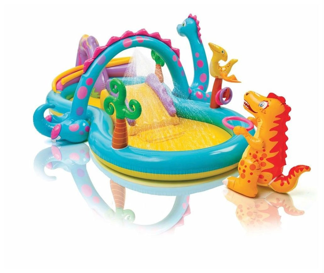 Dinoland Play Center Inflatable Kiddie Spray Wading Pool with Fun Ballz by Unbranded*