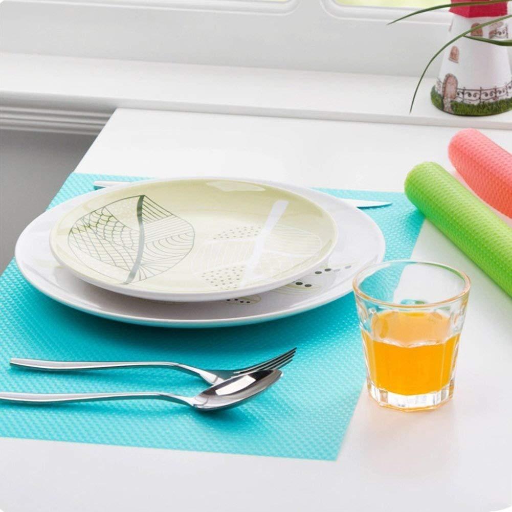 6 PCS Refrigerator Pad Salad Veg Fresh Liner Shelves Non Slip Fridge Mat Washable DIY Cupboard Mat Shoe Mat Table Mat Drawer Mat (3 Mixed Colors,29x45cm) Gaocheng