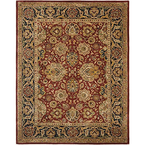 Safavieh Persian Legend Collection PL537A Handmade Traditional Rust and Navy Wool Area Rug (6