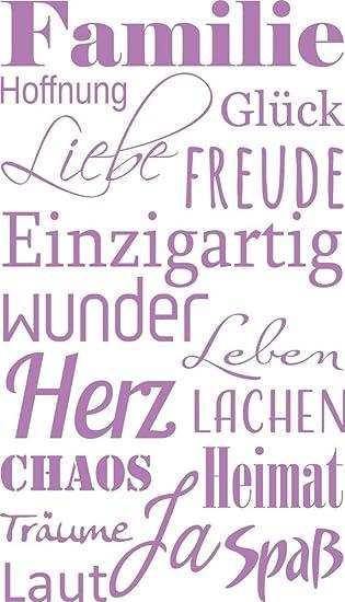 Grazdesign Wandtattoo Sprüche Zitate Familie Spruch Wandaufkleber Familienregeln Schild Wandtattoo Zuhause Ist 70x40cm 300206 40 Wt042