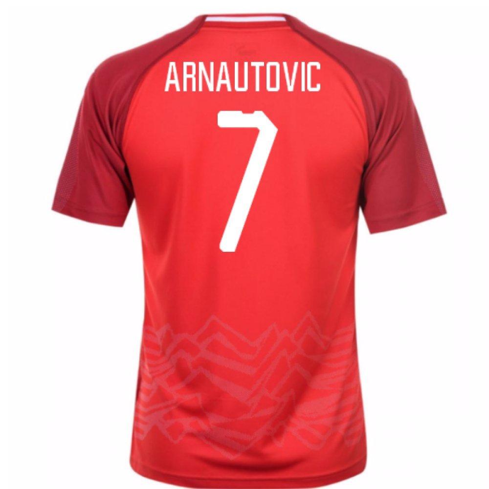 2018-19 Austria Home Football Soccer T-Shirt Trikot (Marko Arnautovic 7)