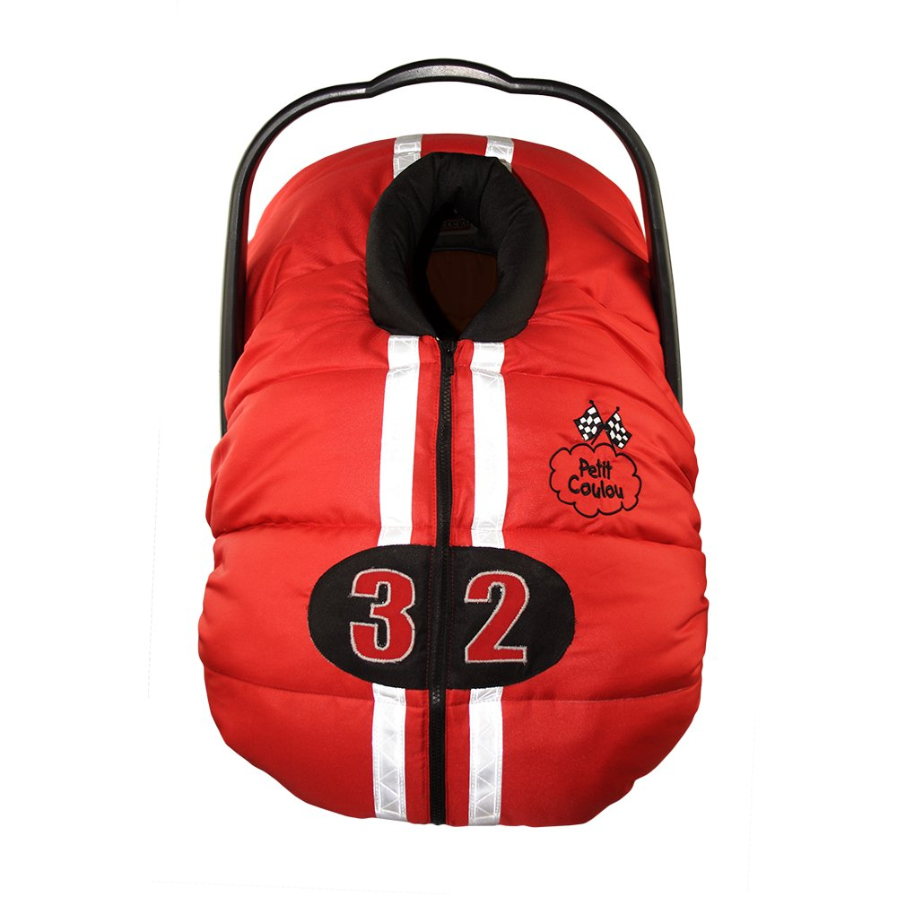 Petit Coulou Winter Car Seat Cover, Red/Black/White Car