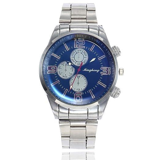 Dylung Reloj para Hombre Mujer Unisex Reloj de Pulsera de Dama Caballero Relojes para Hombres Mujeres Analógico Cuarzo Correa de Acero Inoxidable Elegante ...