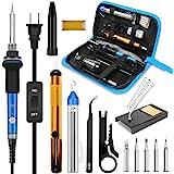 Soldering Iron, Soldering Iron Kit Electronics, 60W Adjustable Temperature Welding Tool, 5pcs Soldering Iron Tip, Soldering I