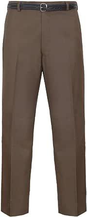 Para hombre pantalones oficina negocio trabajo Formal Casual Smart Big Plus cinturón bolsillo pantalones