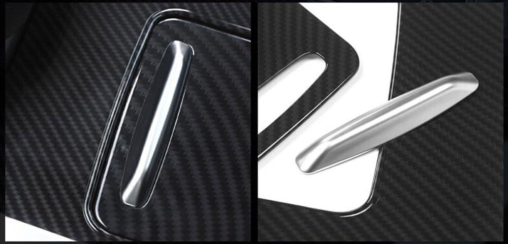 Karbonfaser ABS-Kunststoff Mittelkonsole-Verkleidung Teile 3 New