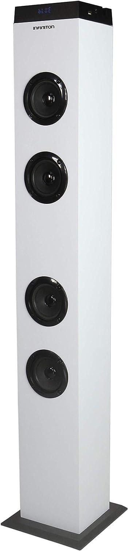 Altavoz Torre DE Sonido ST-K20 INFINITON (Bluetooth, USB/SD, Mando A Distancia) (Blanca)