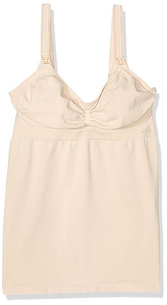 698246a872234 Ameda Intimates Nursing Camisole Size 2, Tan, Machine-Washable Microfiber Nursing  Bra,