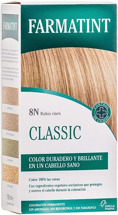 Farmatint Gel 8N Rubio Claro   Color natural y duradero   Componentes vegetales y aceites naturales   Sin amoníaco   Sin Parabenos   ...