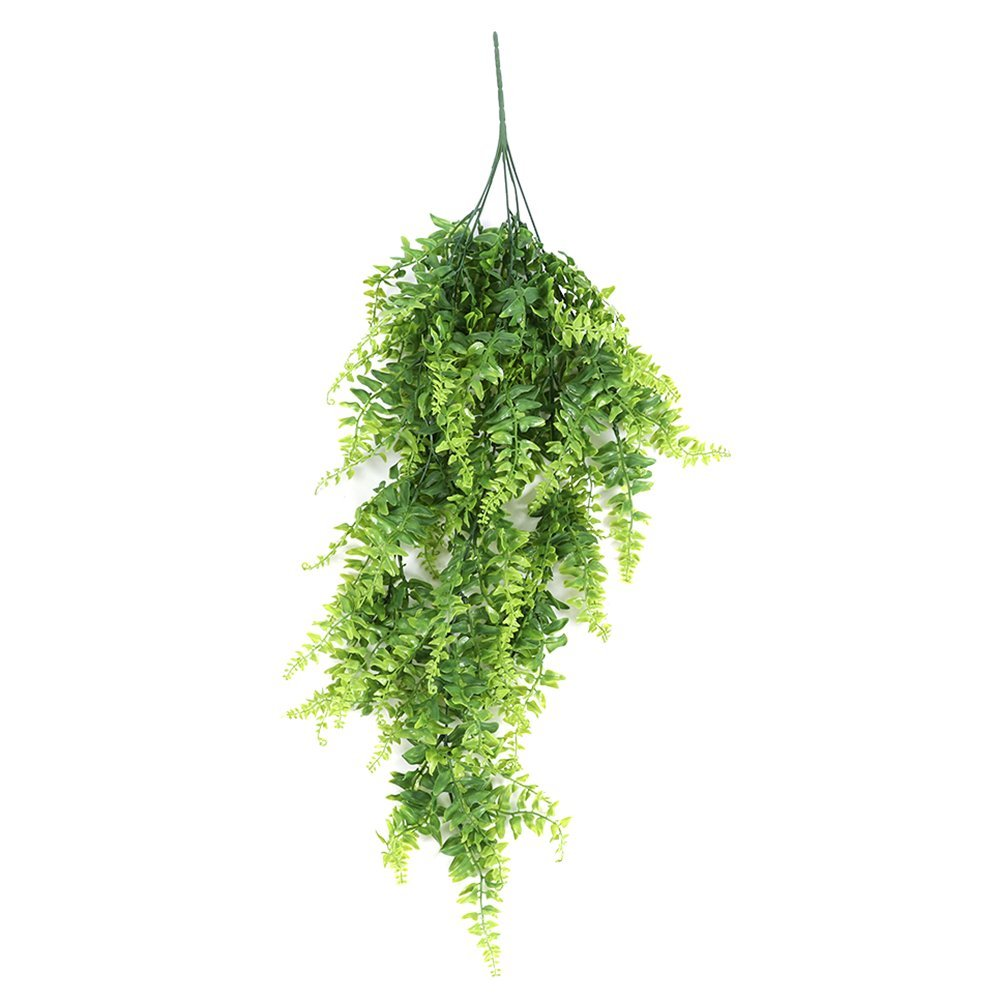 6 pcs Artificial Lvy Fake Hanging Vine Plants Faux Plastic Greenery Plant Ferns Flowers Vine for Home Wall Decoration Indoor Outside Hanging Basket