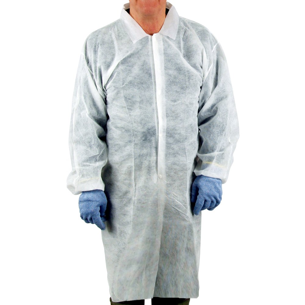UltraSource Disposable Poly Lab Coats, Medium (Pack of 30) by UltraSource (Image #1)