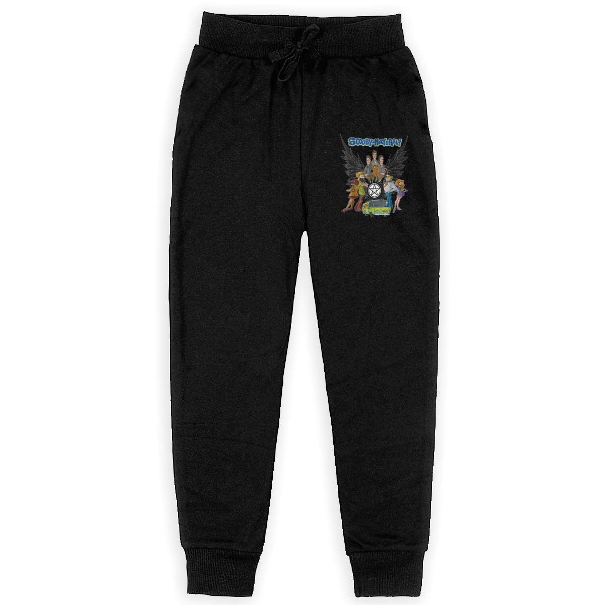 Scooby-Natural Mystery Team LETE Unisex Youth Active Basic Jogger Fleece Pants Training Pants with Pockets