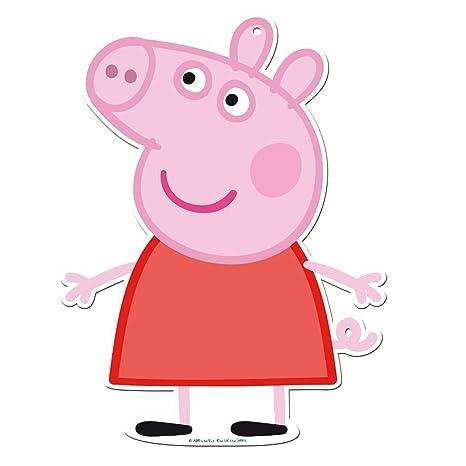 Peppa Pig 0887, Pack 4 Siluetas 30 cms, Decoracion de ...