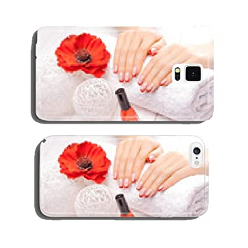 French manicure with red poppy flower cell phone cover amazon french manicure with red poppy flower cell phone cover case samsung s6 mightylinksfo