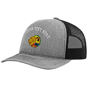0db6941d30c Amazon.com  Custom Text Embroidered Yellow Lab with View Unisex Adult Snaps  Polyester Richardson Structured Front Mesh Back Adjustable Cap Adjustable  Hat  ...