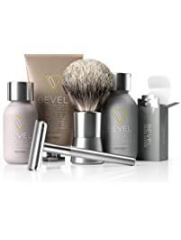 Bevel Shave System - Starter Kit. Safety Razor, Shave Creams, Oil, Balm and 20 Blades. Clinically Tested to Help Prevent...