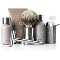 Bevel Shave System - Starter Kit. Safety Razor, Shave Creams, Oil, Balm and 20 Blades. Clinically Tested to Help Prevent Razor Bumps