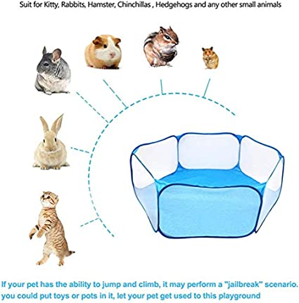 Hamster Rabbits Portable Yard Fence for Guinea Pig Transser Small Animals C/&C Cage Tent Transparent /& Breathable Pet Playpen Pop Open Outdoor//Indoor Exercise Fence Chinchillas and Hedgehogs