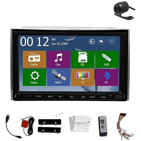 MP4 est¡§|reo Autoradio CD navegador GPS universal 2 Din de audio del