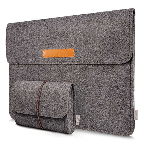 Inateck 13.3  or 12.9 Inch iSleeve Case Cover Ultrabook Netbook Carrying Case Protector Bag - Dark Gray