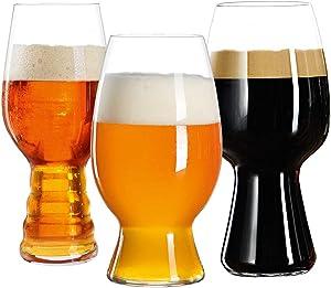 Spiegelau Craft Beer Glasses Tasting Kit, Set of 3, Clear