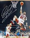 #4: Dennis Rodman Autographed Picture - 16X20 vs Hornets - PSA/DNA Certified - Autographed NBA Photos