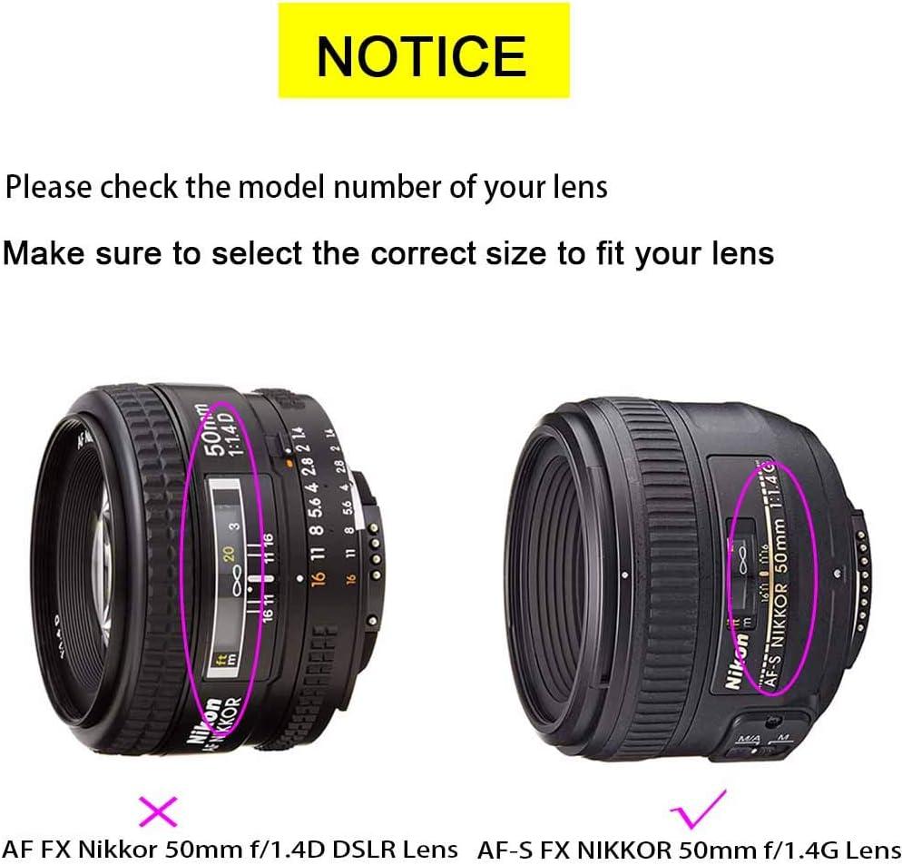 ULBTER 58mm Capuchon Bouchon DObjectif Cache avec Gardien pour NIKKOR AF-S 50mm f//1.8G Lens,AF-S 50mm f//1.4G,55-300mm f//4.5-5.6G Objectif pour Nikon D7000 D5100 D3100 D3200 D3300 D90 D5200 Lot de 3