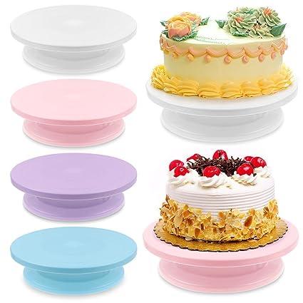 Kang -- 28 cm decoración de pasteles giratoria Rotatorio glaseado ...